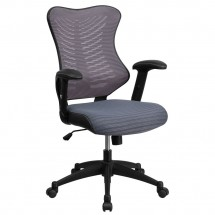 Flash Furniture BL-ZP-806-GY-GG Gray High Back Mesh Chair with Nylon Base