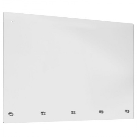"""Flash Furniture BR-ASLM-2436-GG Clear Acrylic Suspended Register Shield / Sneeze Guard 36"""" W x 24"""" H"""
