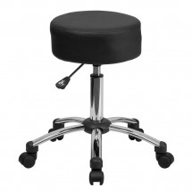 Flash Furniture BT-191-1-GG Medical Ergonomic Stool with Chrome Base
