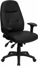 Flash Furniture BT-2350-BK-GG High Back Black Leather Executive Office Chair