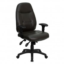 Flash Furniture BT-2350-BRN-GG High Back Espresso Brown Leather Executive Office Chair