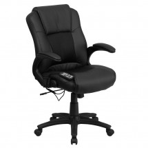 Flash Furniture BT-2536P-1-GG Massaging Black Leather Executive Office Chair