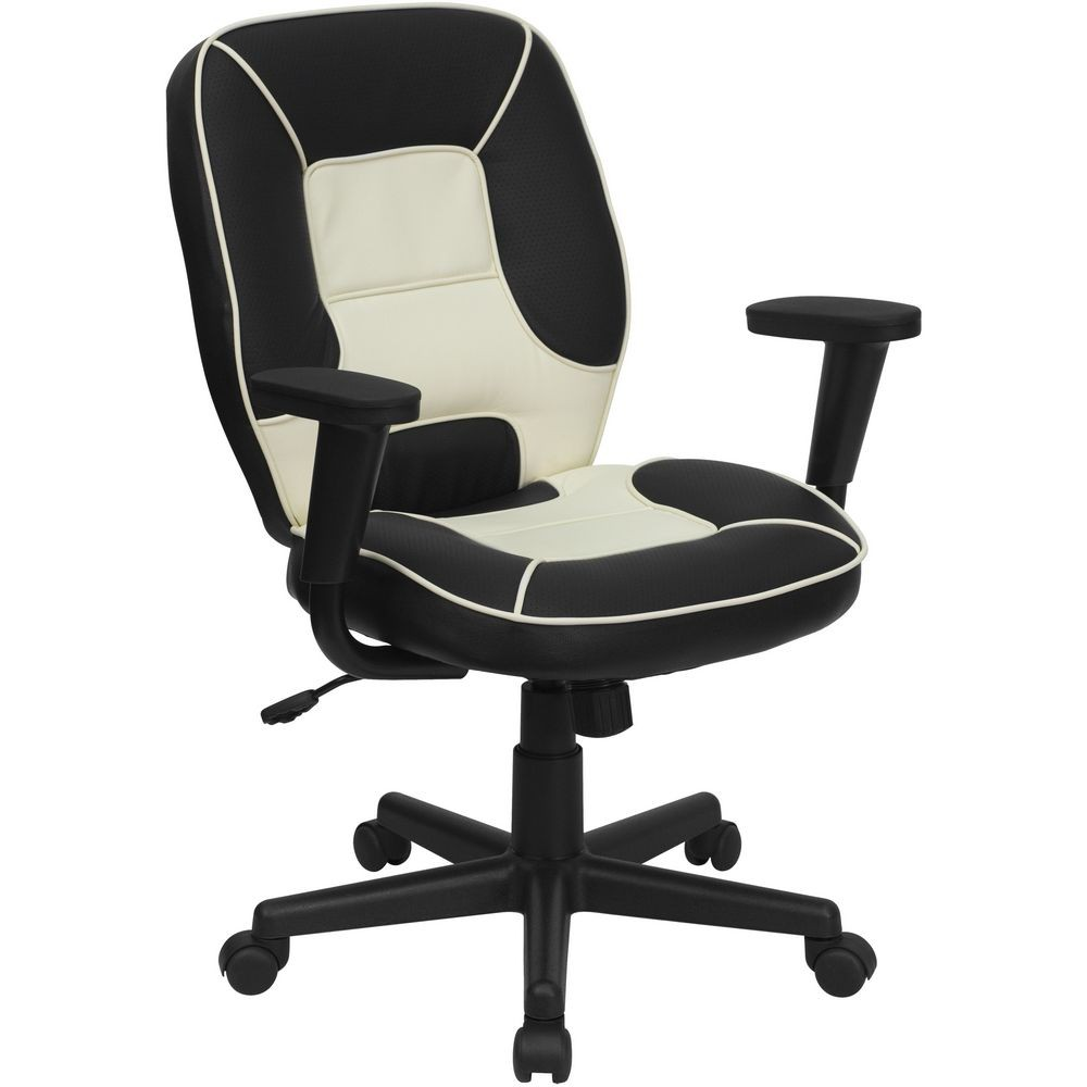Flash Furniture BT-2922-BK-GG Mid-Back Vinyl Steno Executive Office Chair