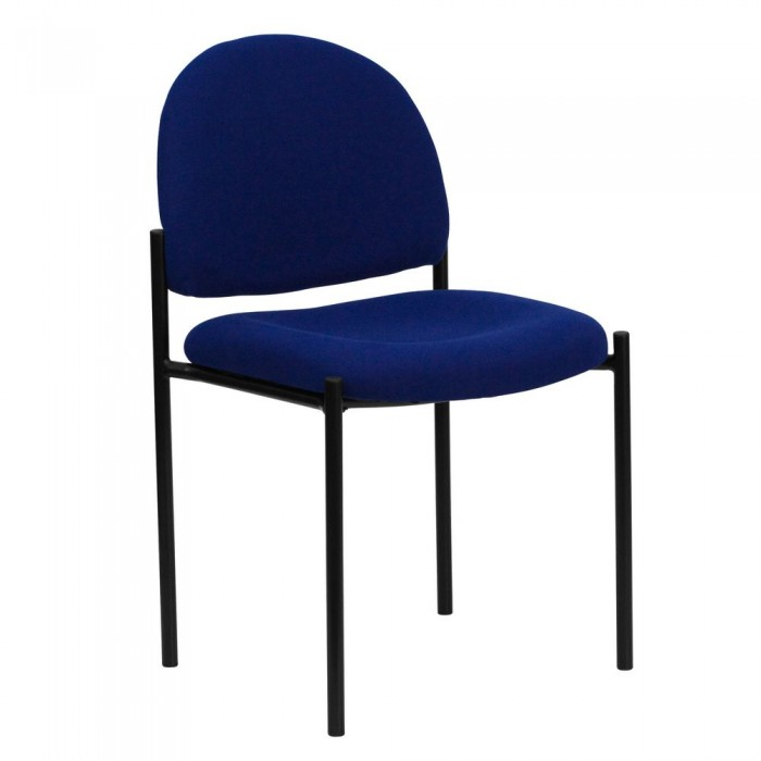 Flash Furniture BT-515-1-NVY-GG Navy Fabric Comfortable Stackable Steel Side Chair