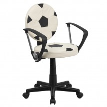 Flash Furniture BT-6177-SOC-A-GG Soccer Task Chair with Arms