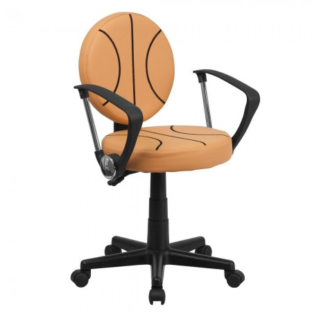 Flash Furniture BT-6178-BASKET-A-GG Basketball Task Chair with Arms
