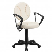 Flash Furniture BT-6179-BASE-A-GG Baseball Task Chair with Arms