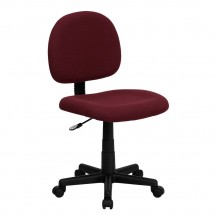 Flash Furniture BT-660-BY-GG Mid-Back Ergonomic Burgundy Fabric Task Chair