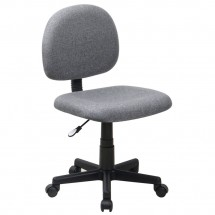 Flash Furniture BT-660-GY-GG Mid-Back Ergonomic Gray Fabric Task Chair