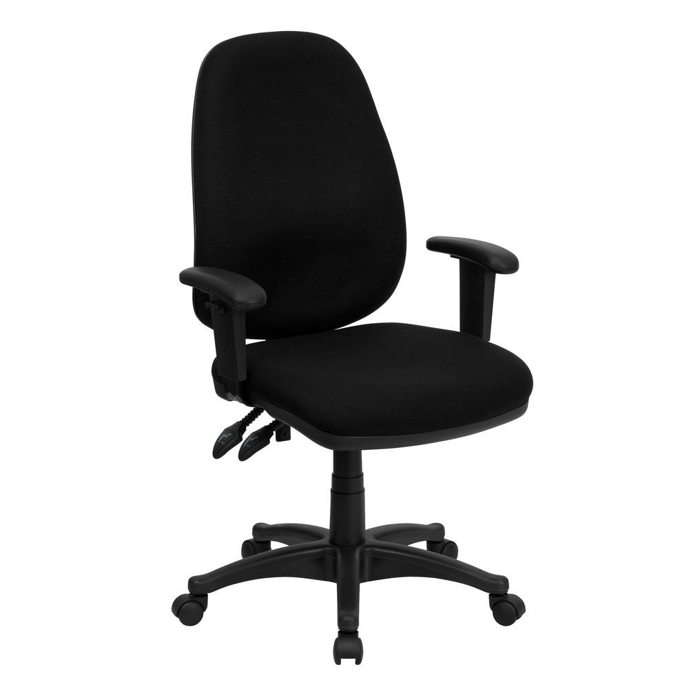 task adjustable leather black computer office executive chair homcom ergonomic seat pu