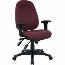 Flash Furniture BT-662-BY-GG Mid-Back Multi-Functional Burgundy Fabric Swivel Computer Chair