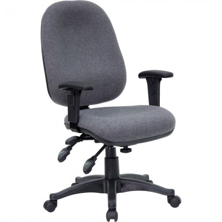 Flash Furniture BT-662-GY-GG Mid-Back Multi-Functional Gray Fabric Swivel Executive Chair