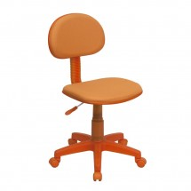 Flash Furniture BT-698-ORANGE-GG Orange Fabric Ergonomic Task Chair