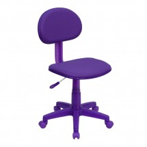 Flash Furniture BT-698-PURPLE-GG Purple Fabric Ergonomic Task Chair