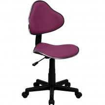 Flash Furniture BT-699-LAVENDER-GG Lavender Fabric Ergonomic Task Chair