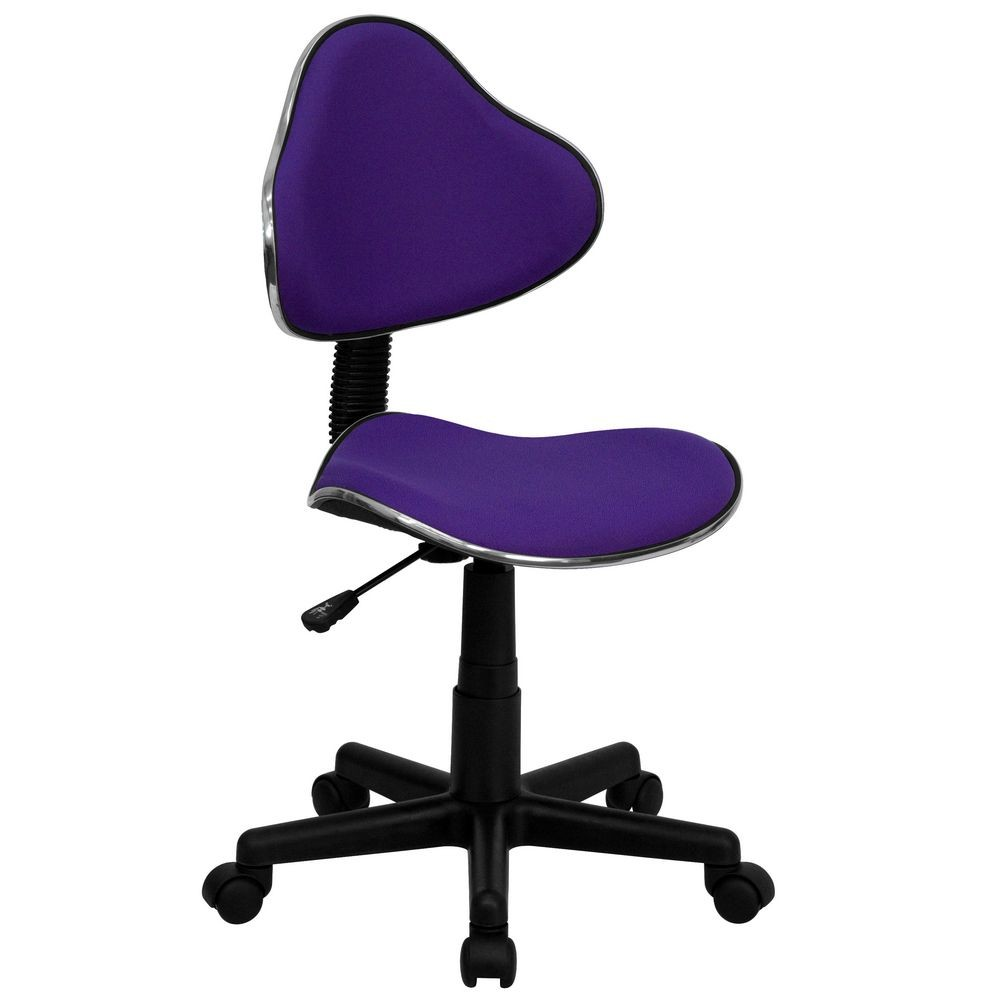 Flash Furniture BT-699-PURPLE-GG Purple Fabric Ergonomic Task Chair