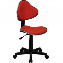 Flash Furniture BT-699-RED-GG Red Fabric Ergonomic Task Chair