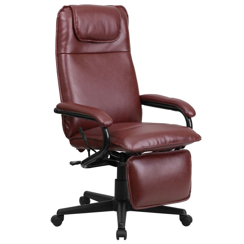 Flash Furniture BT-70172-BG-GG High Back Burgundy Leather Executive Reclining Office Chair