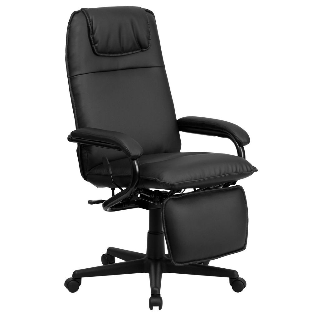 70172 BK GG High Back Black Leather Executive Reclining Office Chair