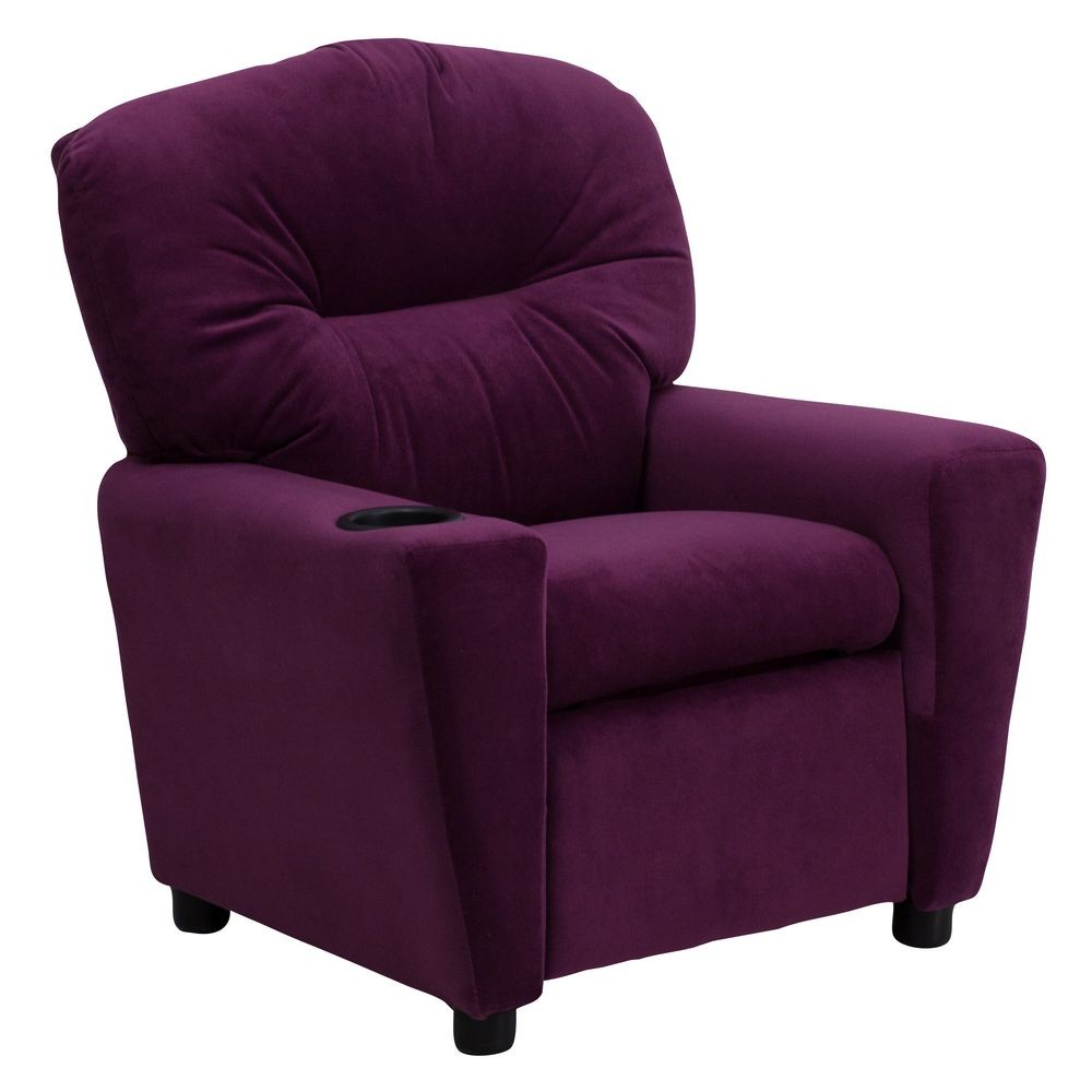 Flash furniture bt 7950 kid mic pur gg contemporary purple for Kids recliner chair