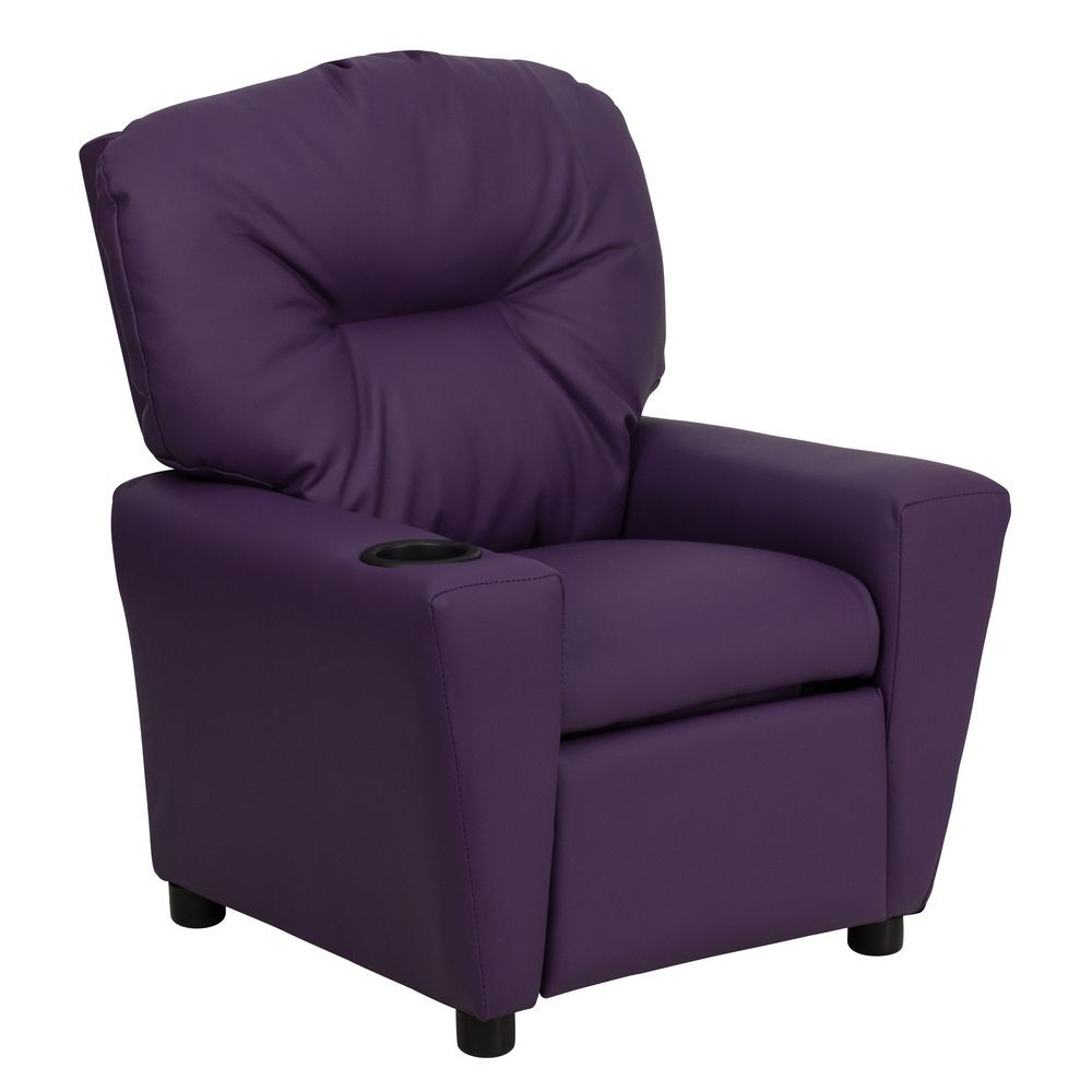 Flash furniture bt 7950 kid pur gg contemporary purple for Kids recliner chair