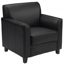 Flash Furniture BT-827-1-BK-GG HERCULES Diplomat Series Black Leather Chair