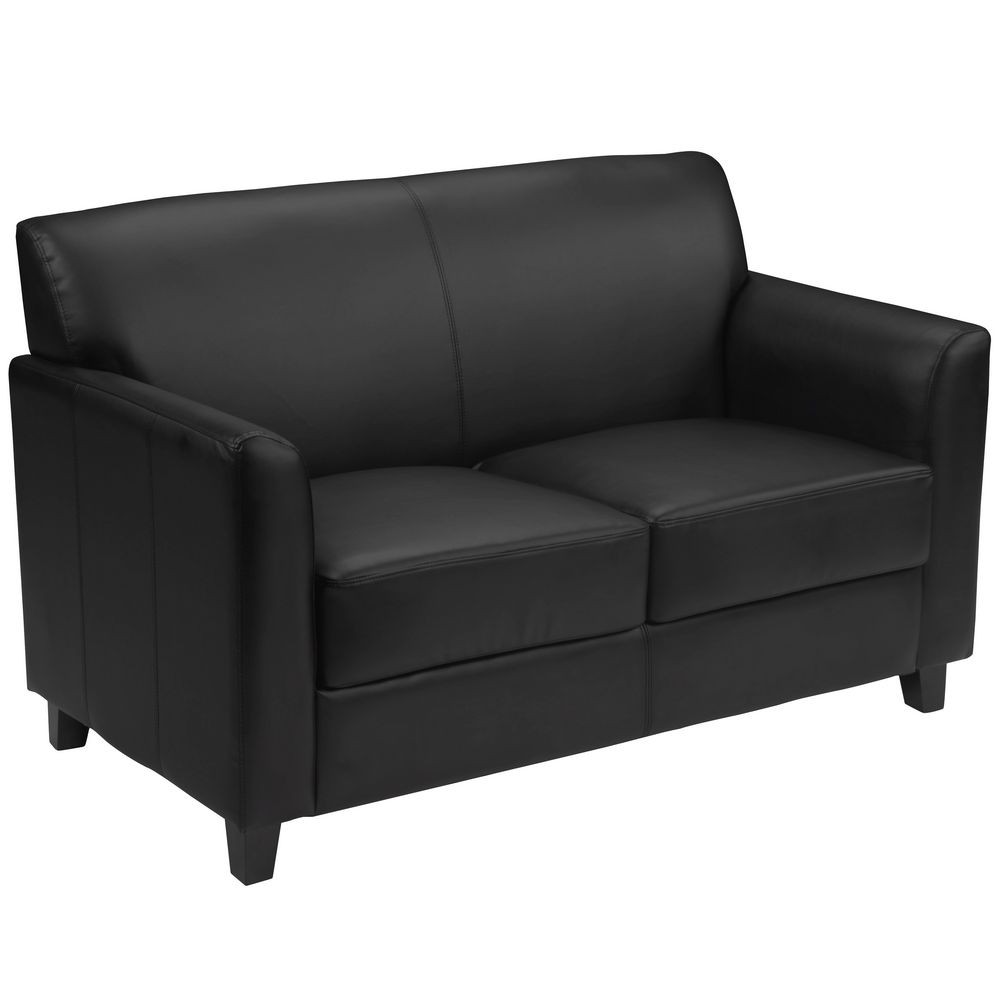 Flash Furniture BT-827-2-BK-GG HERCULES Diplomat Series Black Leather Love Seat