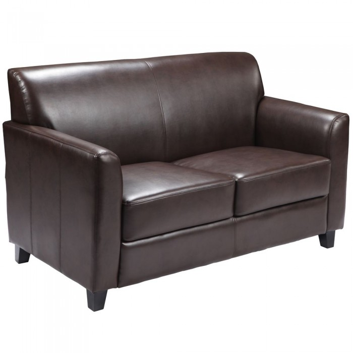 Flash Furniture BT-827-2-BN-GG HERCULES Diplomat Series Brown Leather Love Seat
