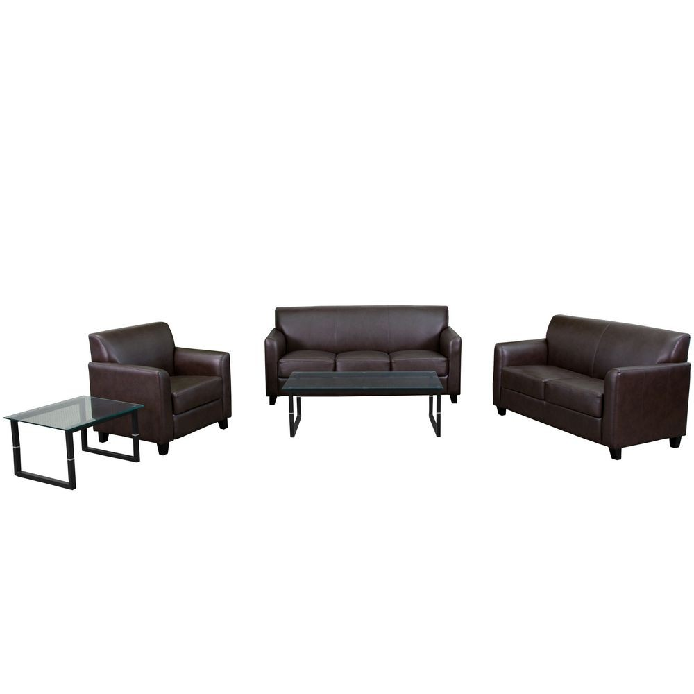Flash Furniture BT-827-SET-BN-GG HERCULES Diplomat Series Reception Set in Brown