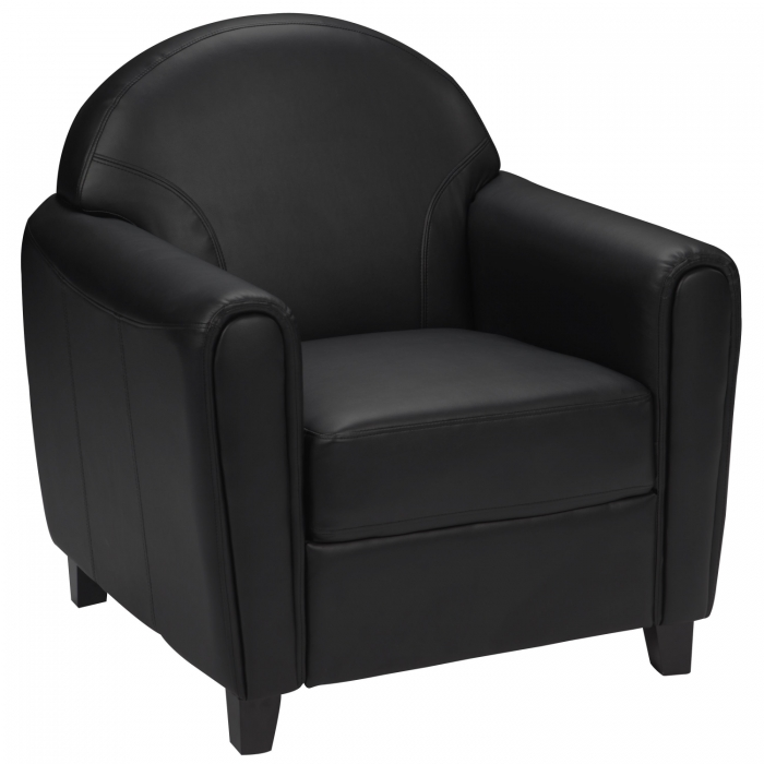 Flash Furniture BT-828-1-BK-GG HERCULES Envoy Series Black Leather Chair