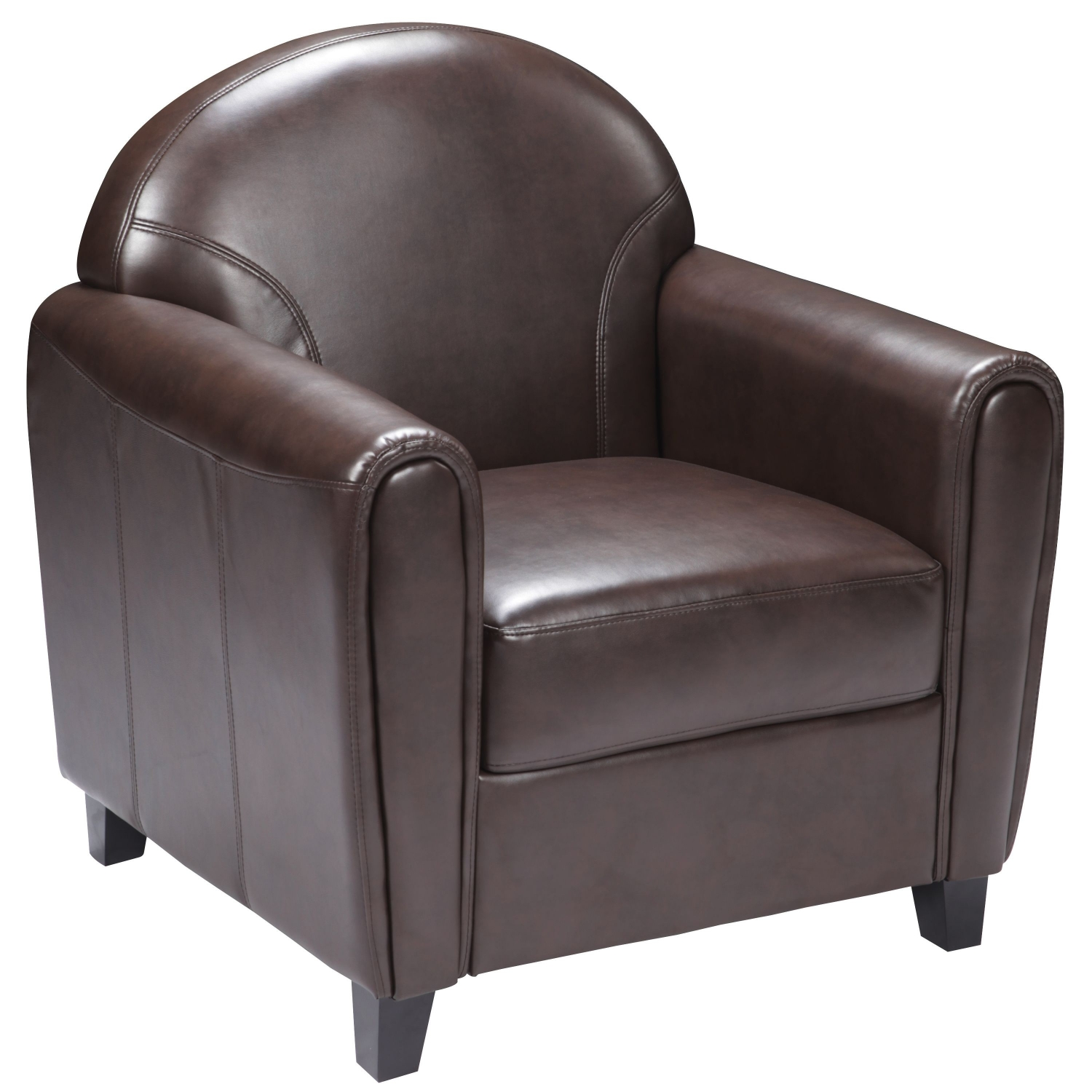 Flash Furniture BT-828-1-BN-GG HERCULES Envoy Series Brown Leather Chair