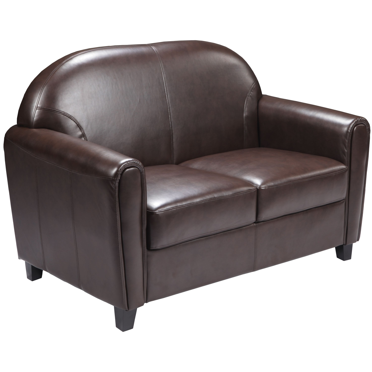 Flash Furniture BT-828-2-BN-GG HERCULES Envoy Series Brown Leather Love Seat