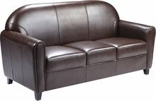 Flash Furniture BT-828-3-BN-GG HERCULES Envoy Series Brown Leather Sofa