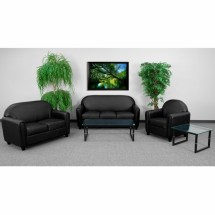 Flash Furniture BT-828-SET-BK-GG HERCULES Envoy Series Reception Set in Black