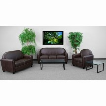 Flash Furniture BT-828-SET-BN-GG HERCULES Envoy Series Reception Set in Brown