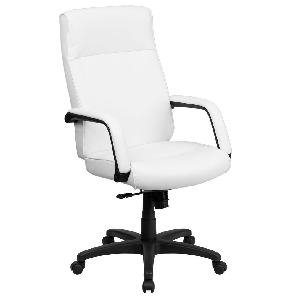 furniture bt 90033h wh gg high back white leather executive office