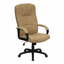 Flash Furniture BT-9022-BGE-GG High Back Beige Fabric Executive Office Chair
