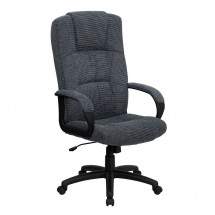 Flash Furniture BT-9022-BK-GG High Back Gray Fabric Executive Office Chair