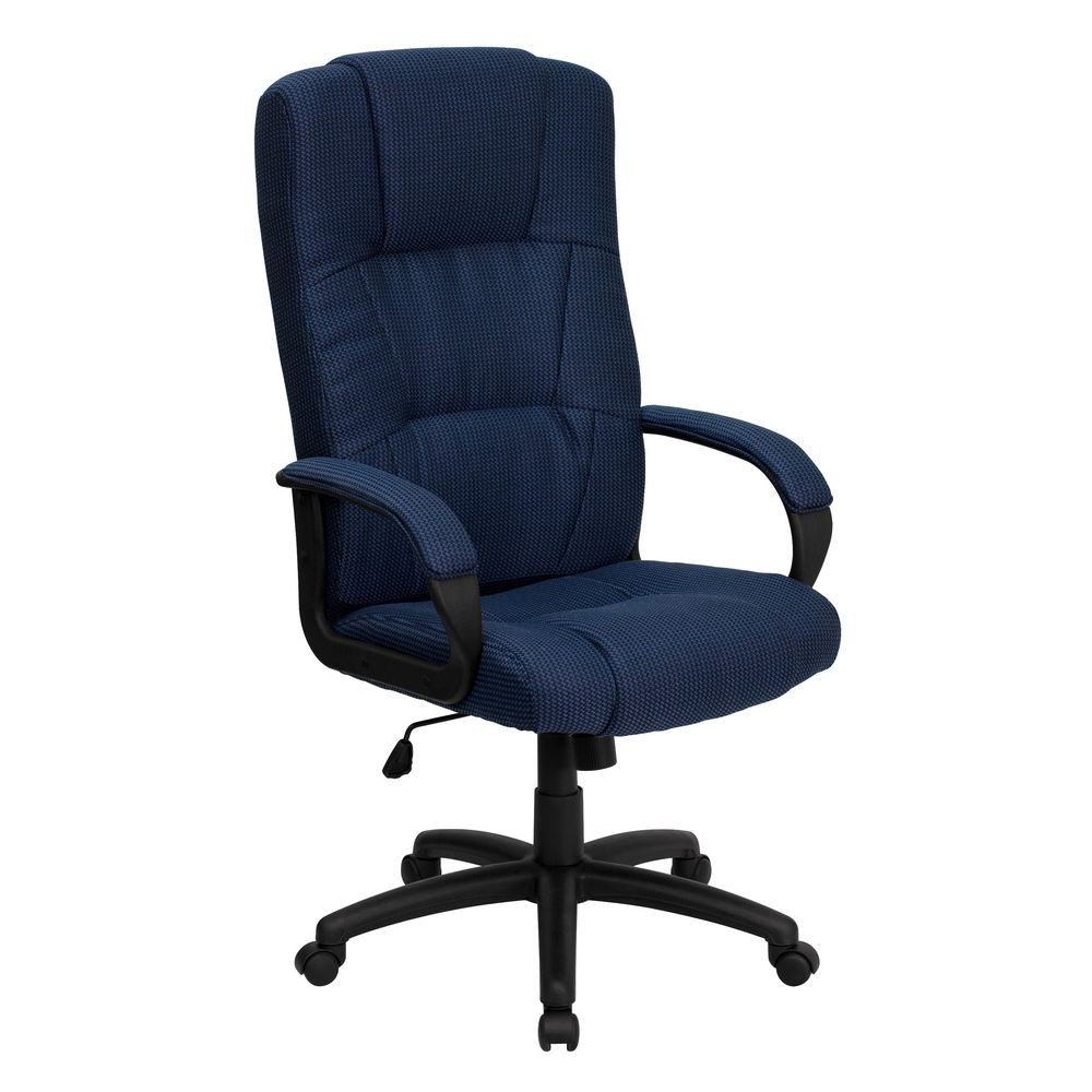 Flash Furniture BT-9022-BL-GG High Back Navy Fabric Executive Office Chair