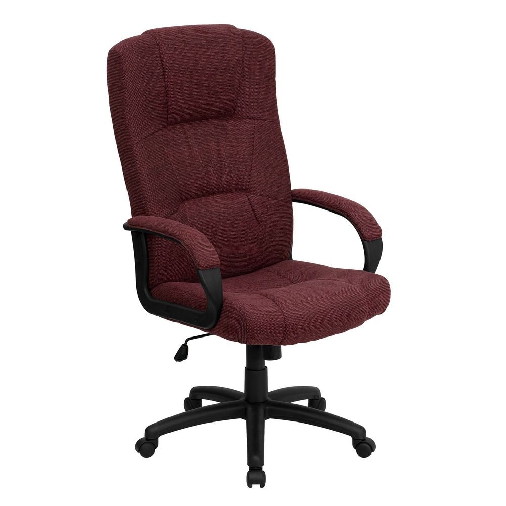 Flash Furniture BT-9022-BY-GG High Back Burgundy Fabric Executive Office Chair