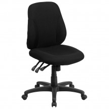 Flash Furniture BT-90297S Mid-Back Black Fabric Multi-Functional Ergonomic Chair