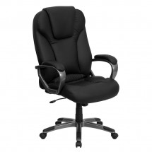 Flash Furniture BT-9066-BK-GG High Back Black Leather Executive Office Chair