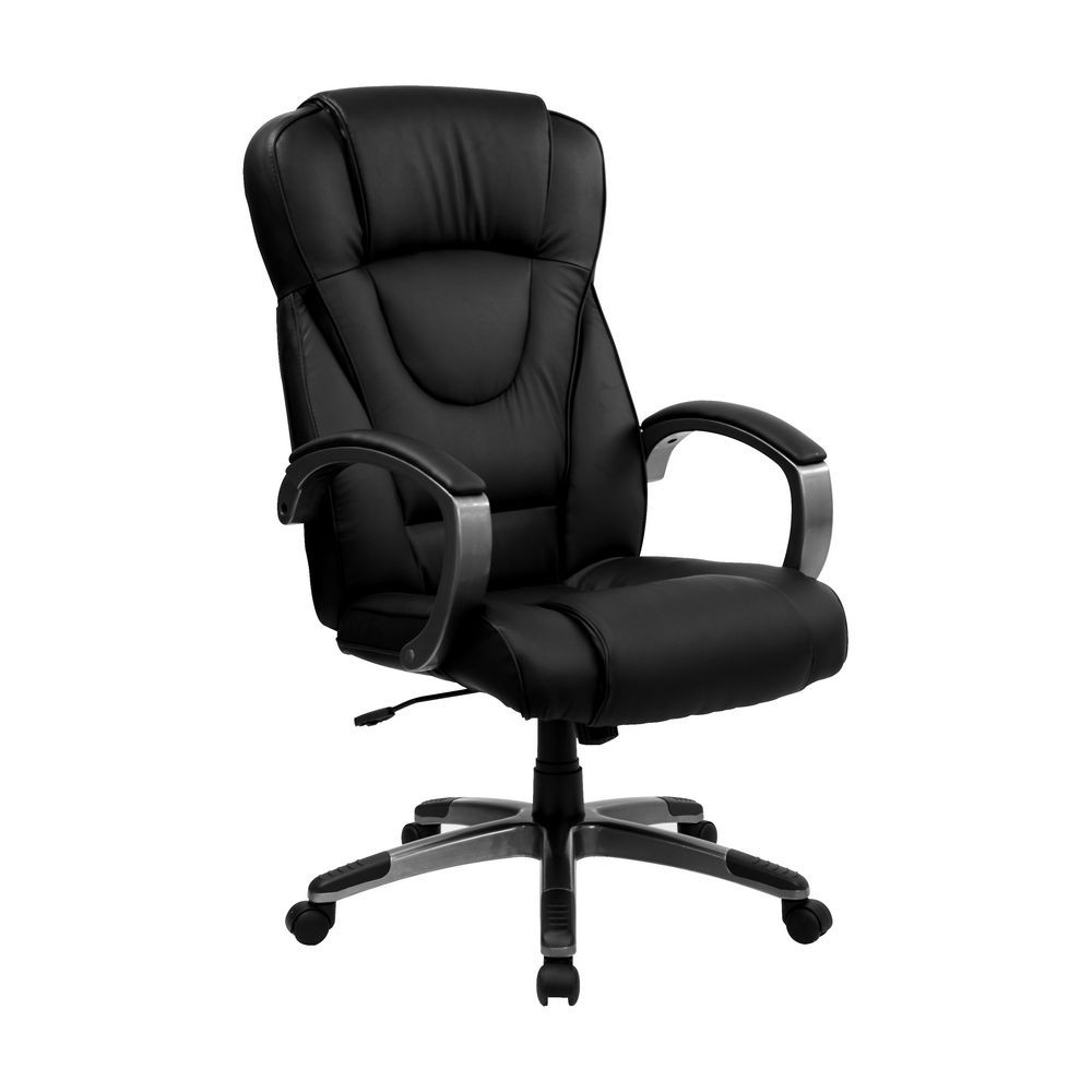 Flash Furniture BT-9069-BK-GG High Back Black Leather Executive Office Chair