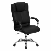 Flash Furniture BT-9080-BK-GG High Back Black Leather Executive Office Chair