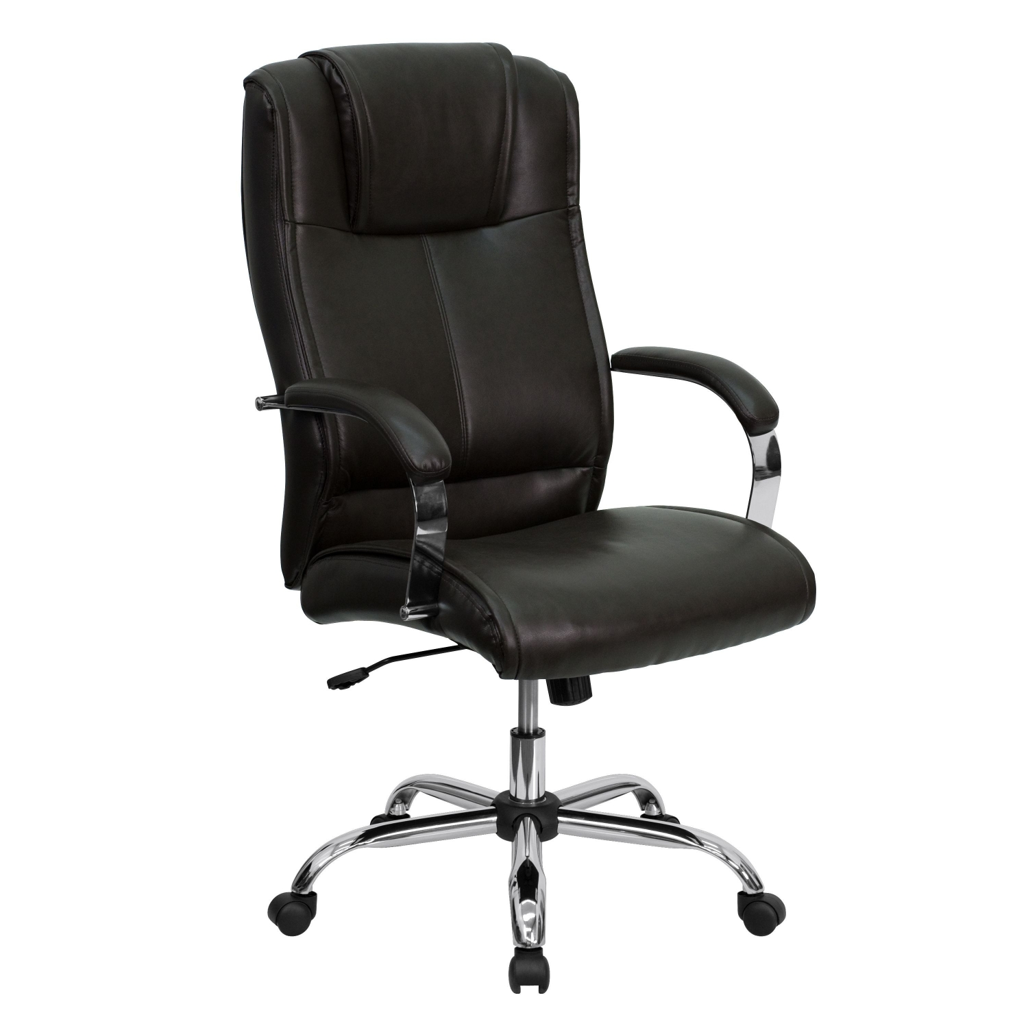 Flash Furniture BT-9080-BRN-GG High Back Brown Leather Executive Office Chair