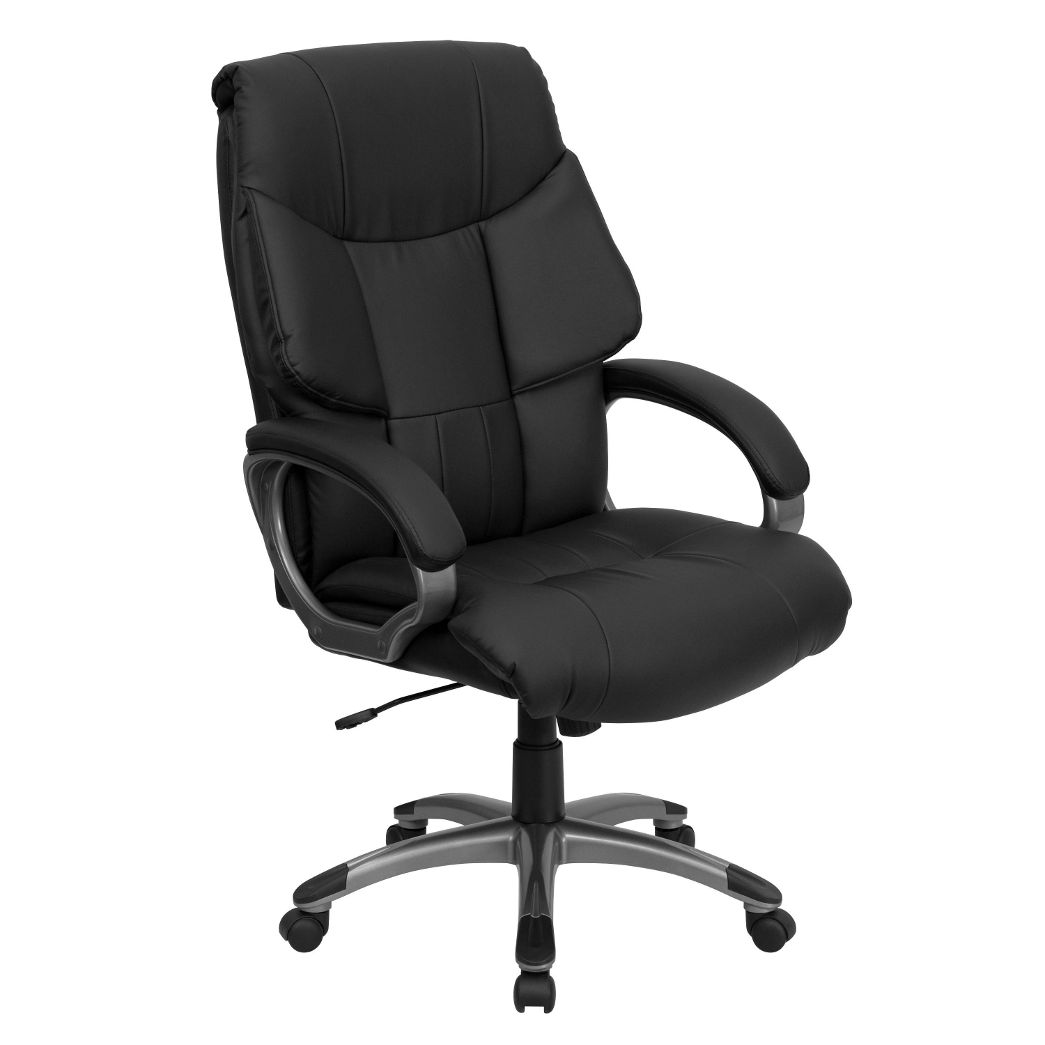 Flash Furniture BT-9123-BK-GG High Back Black Leather Executive Office Chair