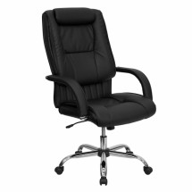 Flash Furniture BT-9130-BK-GG High Back Black Leather Executive Office Chair