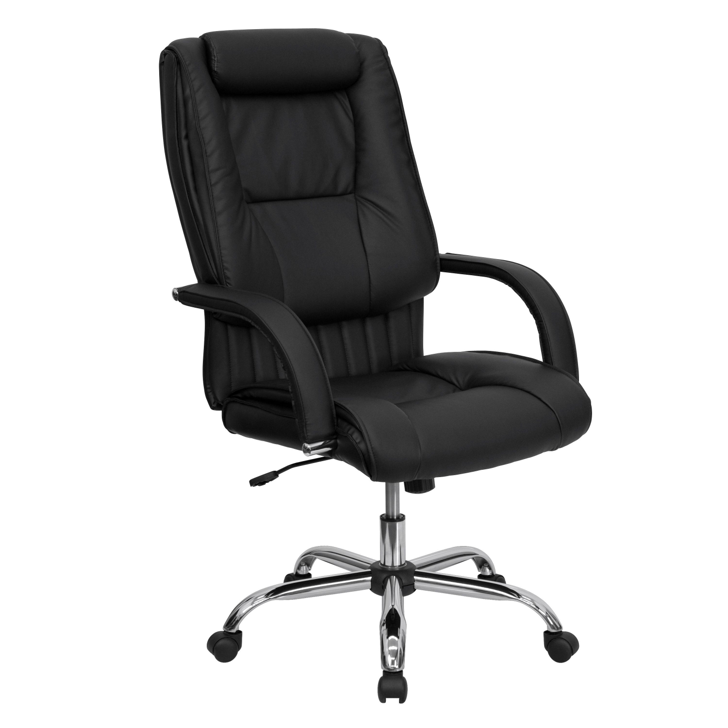 Furniture BT 9130 BK GG High Back Black Leather Executive Office Chair