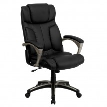 Flash Furniture BT-9875H-GG High Back Folding Black Leather Executive Office Chair