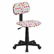 Flash Furniture BT-D-MUL-GG Multi-Colored Dot Printed Computer Chair